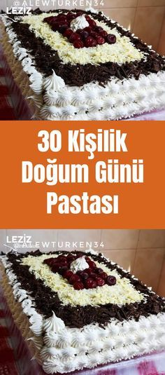 30 Person Birthday Cake - My Delicious Food - Cake Recipes Baked Recipes Vegetarian, Best Pasta Recipes, Delicious Cake Recipes, Best Cake Recipes, Yummy Cakes, Yummy Food, Mousse Au Chocolat Torte, Moist Carrot Cakes, Cool Birthday Cakes
