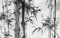 Bamboo ink painting