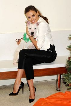 Irina Shayk Pumps - Irina Shayk slipped on a pair of black patent leather Christian Louboutin pumps for an appearance at the ASPCA's adoption center in New York City.