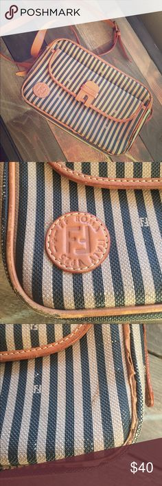 Fendi purse in used condition Older purse damage isn't to noticeable unless pointed out when wearing. Clean inside open to all offers Fendi Bags Crossbody Bags