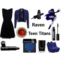 """""""Raven"""" from the Teen Titans Casual Cosplay, Cosplay Outfits, Anime Outfits, Cool Outfits, Amazing Outfits, Teen Titans Outfits, Themed Outfits, Inspired Outfits, Disney Dress Up"""