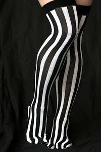 Vertical Stripe Tabi OTK - Turn heads and make everybody's toes jealous with…