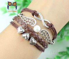 Infinity jewelry wings the heart bracelet lovely by littlecuteowl, $4.99