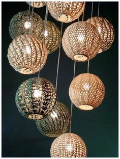 lámparas de crochet