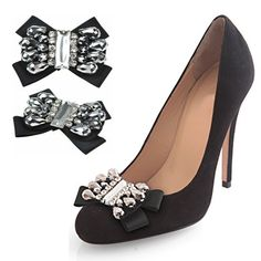 4868daa526065 Glamorous Shoe Clips, Heel Jewels and Shoe and Boot Chain Accessories and  Bridal Shoe Clips. Shoe clip collection for evening, casual and bridal shoes