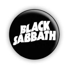 Heavy metal buttons | Black Sabbath Logo 1-Inch Pin Button Badge (Ozzy Osbourne Heavy Metal)