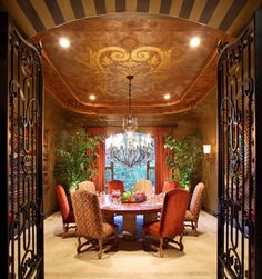Dining Photos Old World,tuscan,mediterranean,spanish Decor Design, Pictures, Remodel, Decor and Ideas - page 5