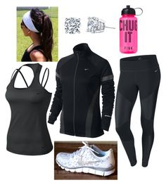 """""""Workout Outfit"""" by hkl16 ❤ liked on Polyvore featuring NIKE and Victoria's Secret"""