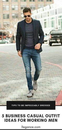 5 Business Casual Outfits for Working Men - LLEGANCE Did you know productivity levels decrease at the office when we dress in a relaxed manner? I know the last thing you're after right now is delivering a poor performance. Source by casual outfits Outfits Hombre Casual, Smart Casual Work Outfit, Business Casual Outfits For Work, Outfit Work, Mens Smart Casual Fashion, Mens Fashion, Business Casual Attire For Men, Men's Smart Casual, Man Style Casual