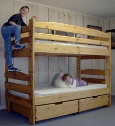 Bunk Bed Plans For This Twin-twin Stackable