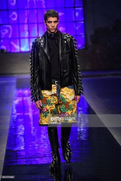 A model walks the runway at the Dsquared2 show during Milan Men's Fashion Week Spring/Summer 2018 on June 18, 2017 in Milan, Italy.