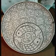 plate handmade paint ceramic motifs ile ilgili görsel sonucu