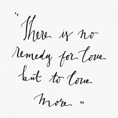 to love more//