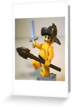 """""""Spartcacus The Gladiator """"No I'm Spartacus !!!"""" Custom LEGO® Minifigure, by 'Customize My Minifig'"""" Greeting Cards & Postcards by Chillee 