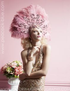 Viva Divas Showgirl Headpiece: Tickled Pink
