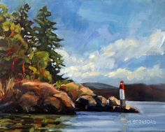 Art by Marcela Strasdas : Montague Afternoon - - Oil on Birch Panel Birch, Aesthetics, Oil, Artist, Painting, Artists, Painting Art, Paintings, Painted Canvas