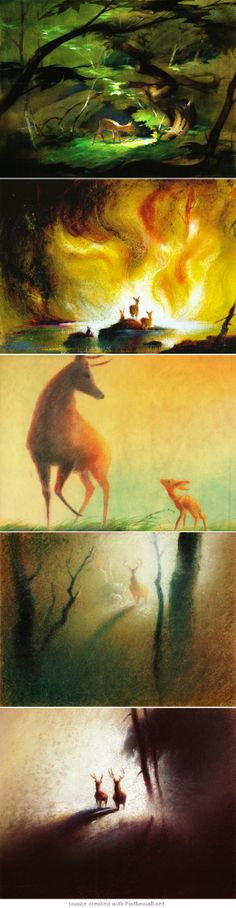The Pastel Illustrations of Tyrus Wong That Would Inspire the Movie 'Bambi'
