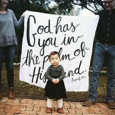 A photo is worth a thousand words is such an understatement. So much love for this stunning shot with our Isaiah 49:16 blanket!