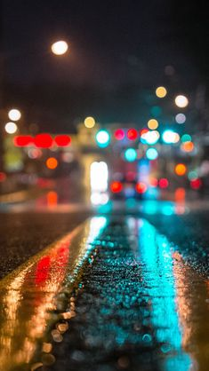 """This is an image of a street at night, using a close-up bokeh effect. Bokeh is an effect in photography; it is """"the visual quality of the out-of-focus areas of a photographic image, especially as rendered by a particular lens. Bokeh Photography, Urban Photography, Abstract Photography, Night Photography, Creative Photography, Photography Backdrops, City Lights Photography, Portrait Photography, Photography Backgrounds"""