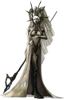 f Drow Elf Cleric staff