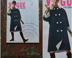 Check out our vogue pattern book selection for the very best in unique or custom, handmade pieces from our shops. Vogue Patterns, Pattern Books, Fashion History, Costumes, Retro, Handmade, Vintage, Hand Made, Dress Up Clothes