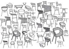 Maritime Chair by Benjamin Hubert - Design Milk Vintage Furniture Wedding, Thumbnail Sketches, Furniture Design, Chair Design, Furniture Sketches, Drawing Furniture, Unique Furniture, Upcycled Furniture, Industrial Furniture