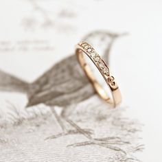 Image of 18ct rose gold champagne diamond band