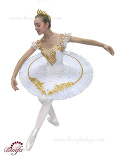 Ballet costume white gold