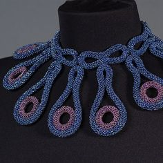 "SCULPTURAL JEWELRY CHRISTINE MARIE NOGUERE  January 6, 2013 Christine Marie Noguere from the U.S., University of South Florida, studied Japanese embroidery at Dunwoody, and   beadwork  in Japan at Reiko Matsukawa.  This piece, ""Aurora""."