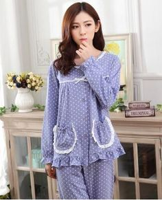 """HOT PRICES FROM ALI - Buy """"cotton pajamas female spring autumn long-sleeve plus size sleepwear pajama sets lounge set"""" from category """"Women's Clothing & Accessories"""" for only USD. Cute Sleepwear, Cotton Sleepwear, Sleepwear Women, Plaid Pajamas, Cotton Pyjamas, Night Outfits, Fashion Outfits, Night Dress For Women, Leather Lingerie"""