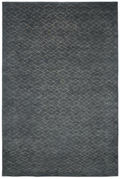 Blue grey – grey. Hand knotted in wool. Made in Nepal. Design Kristiina Lassus.