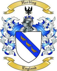 Harding Family Coat of Arms from England