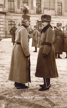 Kaiser Wilhelm II and Emperor Karl I