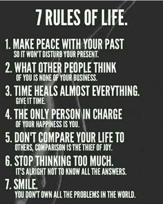 Inspirational quotes - 7 Rules of Life leadership personalgrowth transformation awakening karma karmic balance innerpeace success source unknown Positive Quotes For Life Encouragement, Wisdom Quotes, Me Quotes, Rules Quotes, Quotes About Karma, Karma Sayings, Karma Quotes Truths, Fact Quotes, Truth Quotes