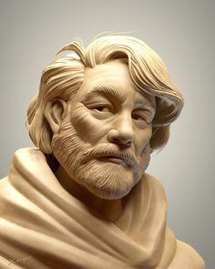 SculptJanuary 17 - Day 10: Man, Julien Kaspar on ArtStation at https://www.artstation.com/artwork/YxG1w