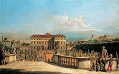 """Bellotto Bernardo - View Of Garden From Belvedere Palace Lihtenshtein 1760 Kuhi  (from <a href=""""http://www.oldpainters.org/picture.php?/45945/category/15206""""></a>)"""