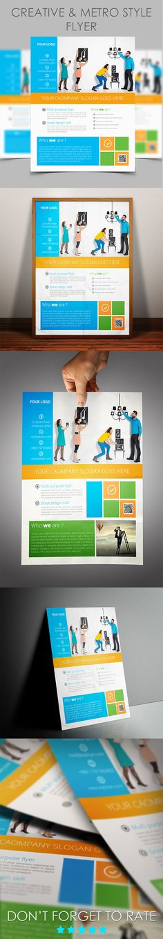 Corporate Flyer Template-Metro Style on Behance