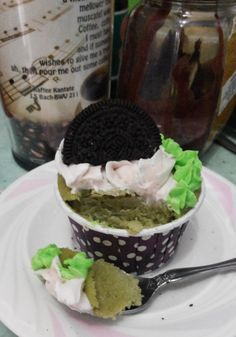 Green tea cupcake with oreo coconut