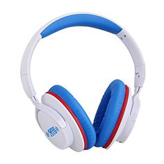 Ausdom Bluetooth Over Ear Headphones ShareMe Wireless Headphone Lightweight Foldable Headset with Mic and Volume Control for Travel Work Sport for PC Laptop SmartPhones Men Kids Girls(White&Blue) Best Noise Cancelling Headphones, Bluetooth Headphones, Over Ear Headphones, Wireless Backup Camera, Audio, Headphone With Mic, Electronics Gadgets, Headset, Theater