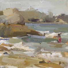 Roos Schuring New paintings- Seascapes and landscapes plein air: Seascape summer Thailand #L For the love of painting