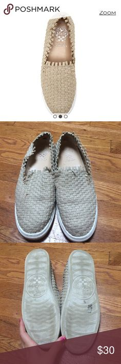 Vince Camuto Binny raw edge woven sneaker Some signs of wear, see photos. Raw edge binny sneaker Vince Camuto Shoes Sneakers