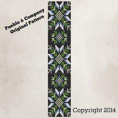 Native American Style Winter Flower Bead Loom by PuebloAndCo