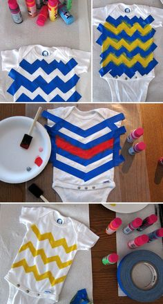 DIY Painted Onesies.  Learn even more at the photo link