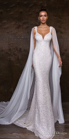 "Crystal Design 2018 Wedding Dresses — ""Royal Garden"" & Haute Couture Bridal Collections crystal design 2018 sleeveless with strap full embellishment glitter glamorous fit and flare wedding dress sweep train (syuzet) mv -- Crystal Design Fit And Flare Wedding Dress, Dream Wedding Dresses, Designer Wedding Dresses, Bridal Dresses, Wedding Gowns, Wedding Bridesmaids, Glitter Wedding Dresses, Wedding Ceremony, Crystal Wedding Dresses"