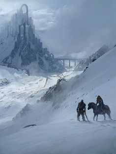 The city, spotted just as they are ready to give in to the cold. artwork by Rasmus Berggreen
