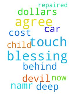 Blessing -  Please touch and agree with me I need a blessing to get my car repaired it will cost me 400.00 dollars that i dont have and I need for the devil to get deep behind me Im a child of God please touch and agree with me now in Jesus namr  Posted at: https://prayerrequest.com/t/lLD #pray #prayer #request #prayerrequest