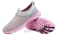 Coo  Mo Womens Mesh Drainage Quick Drying Water shoes Light_Gray 45 DMUS35 * You can get additional details at the image link.(This is an Amazon affiliate link and I receive a commission for the sales)