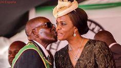 La esposa del presidente sudafricano Mugabe se entrega a la Policía tras ser acusada de agresión