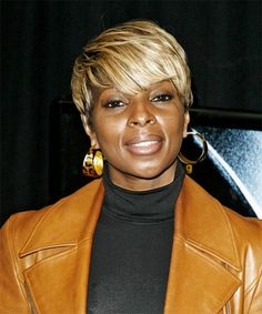 Mary J. Blige Hairstyle - Short Straight Casual -