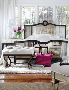 Mirrored bed